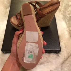 Elie Tahari Shoes - ELIE TAHARI Weaver Espadrille Slide Wedge Sandal